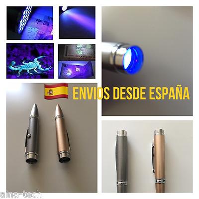 Linterna UV Puntero Y Linterna LED 3 En 1 múltiples Uso Detecta Billetes Nuevo