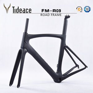 Road-Racing-Carbon-Fiber-700C-Bicycle-Frames-Aero-49-52-54-56-58cm-Bike-Frameset