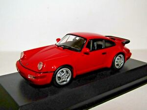 Maxichamps Porsche 911 Turbo 964 1990 Red 1 43 4012138148604 Ebay