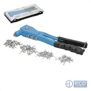 Blindnietzange-Hand-Nietzange-Popnietzange-inkl-100-Blindnieten-2-4-4-8-mm