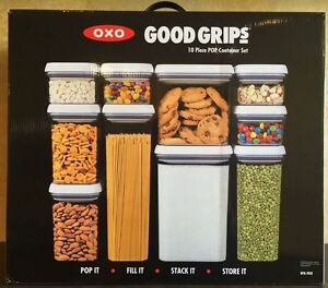 Oxo Good Grips 10 Piece Food Storage Pop Container Set Bpa