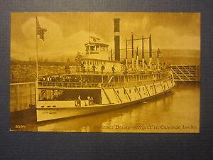 Old-Vintage-c-1910-Steamer-BAILEY-GATZERT-Steamship-POSTCARD-Cascade-Locks