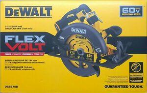 DeWalt DCS578B 7 1/4 Flex Volt Circular Saw 60 volt NEW w Blade