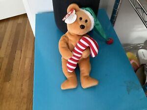 TY Beanie Baby - TASTY the Holiday Bear (9 inch) - MWMTs Stuffed Animal Toy