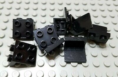 New LEGO Lot of 8 Black 1x2-2x2 Space Brackets Specialty Parts and Pieces
