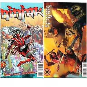 Ninjak Comics 1 & 1B (review edition variant) NM/NM+ Valiant