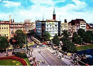 Duesseldorf-Corneliuspltz-und-Koenigsallee-Ansichtskarte-1961-gelaufen
