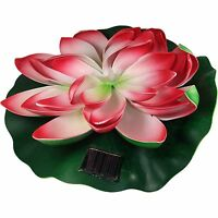 Floating Solar Water Lily For Pond Or Pool