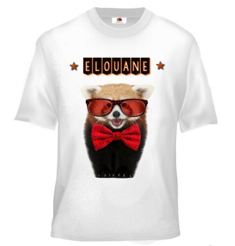 Tee shirt enfant panda roux personnalisé avec prénom