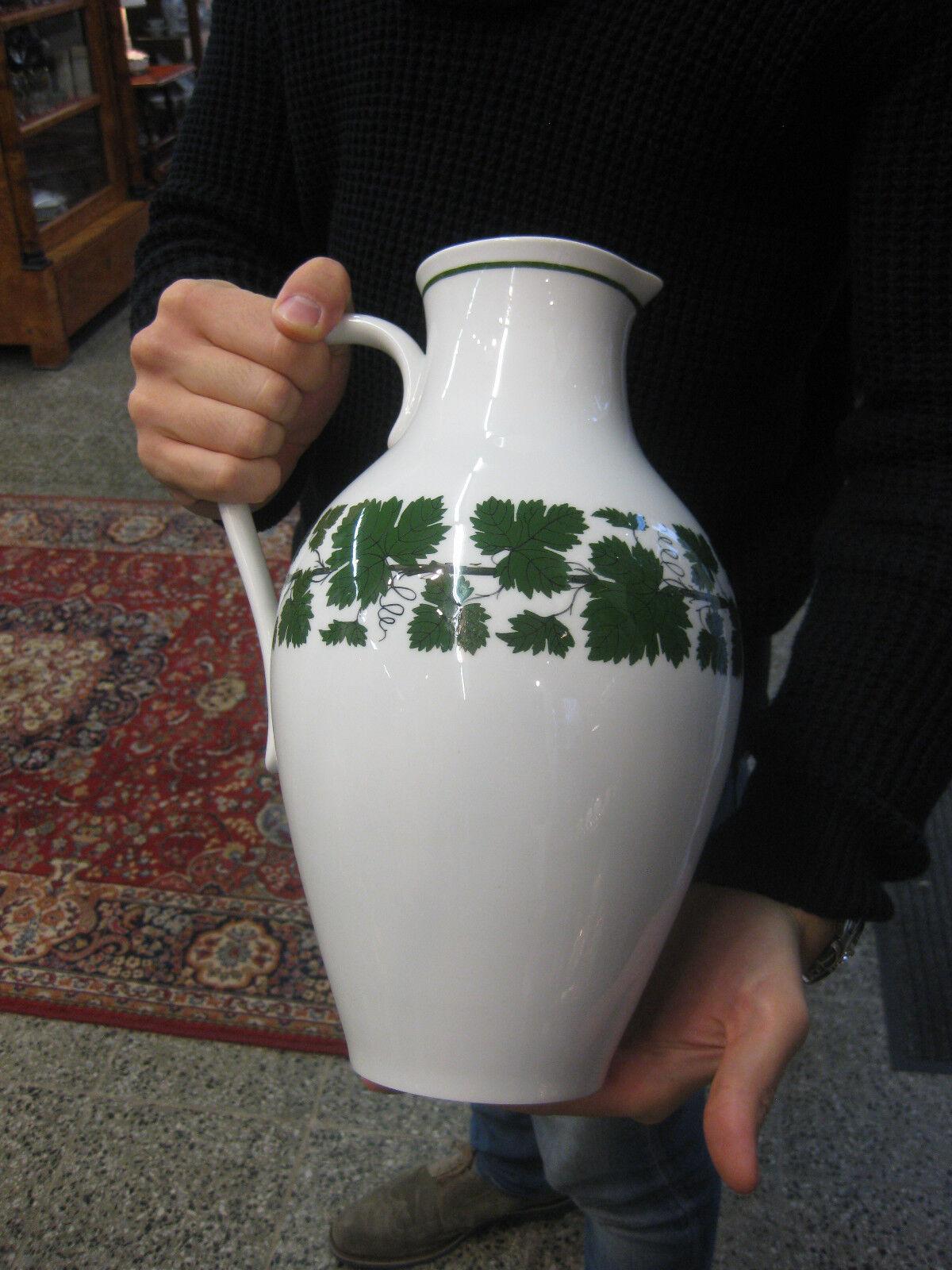Meissen Weinlaub  Milchkanne Kanne Neuer Ausschnitt Krug Wasserkrug Wein Figur