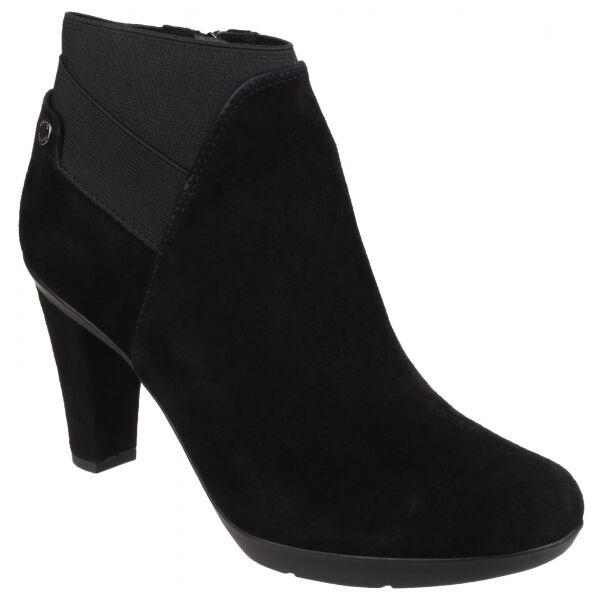 Geox inspiración para Señoras mujeres de cuero Gamuza Suave Tacón Alto botas al Tobillo Zapatos Negro