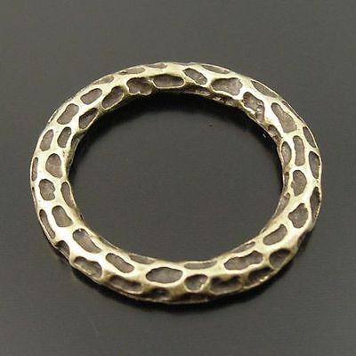 20pcs Antiqued Bronze Vintage Alloy Round Circle  Pendant Charms 33217
