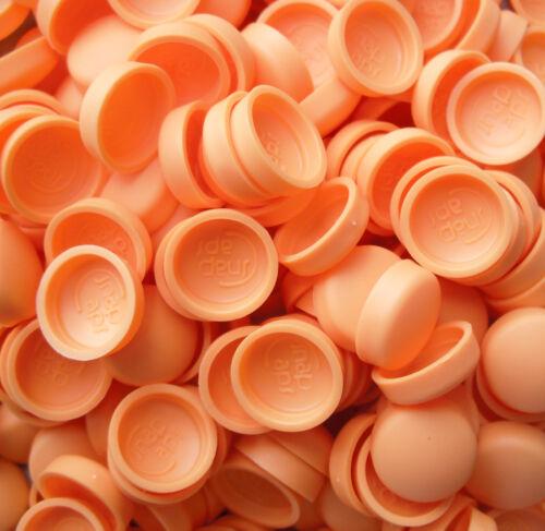 orange deux pièce dôme bouchon à vis couvre snap caps pro-dec fixations 50 x grand