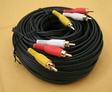 75FT 3-RCA Composite AV Audio Video Gold Pl Male to Male M/M 75'Ft Foot Cable