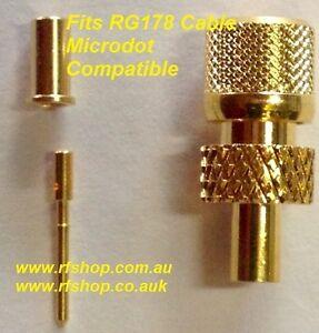si adatta RG178 Maschio 10-32 PUNTO microscopico compatibili Connettori