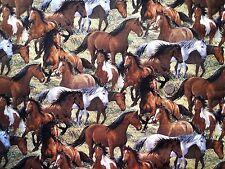 Wild Wings Horses Herd fabric fq 50 x 56 cm Springs 16053-2 100% Cotton