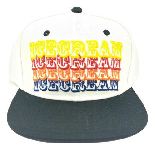 Billionaire Boys Club BBC SnapBack Ice Cream Hat White Smiley Purple Authentic
