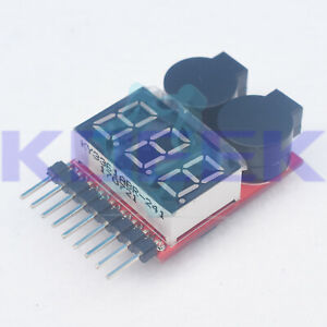 1-8S-2-in1-RC-Li-ion-Lipo-Battery-Low-Voltage-Meter-Tester-Buzzer-Alarm-New