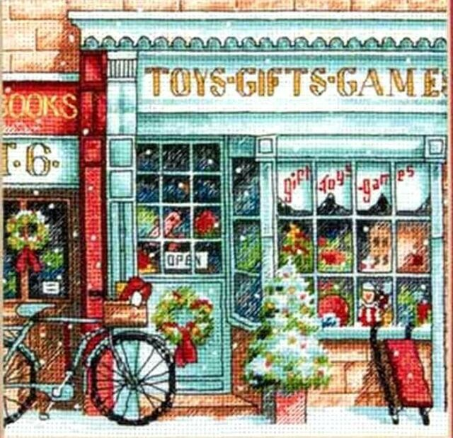 "Dimensions Gold Counted Cross Stitch kit 6"" x 6"" ~ TOY SHOPPE #70-08900 Sale"