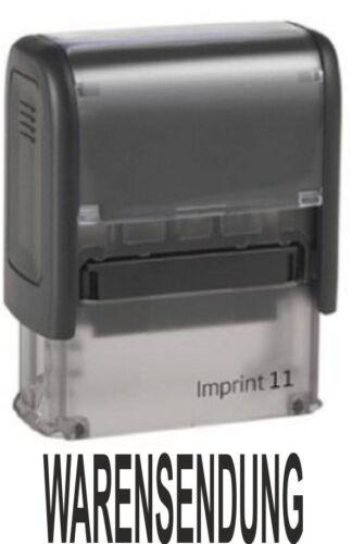 """Trodat Imprint Logo 1-38 x 14 mm Stempel /""""WARENSENDUNG/"""""""