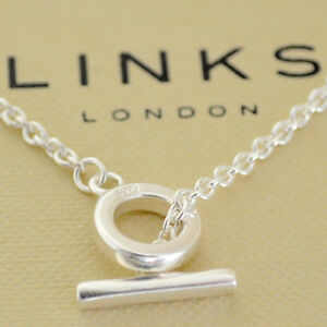 Image Is Loading Links Of London Bracelet Silver T Bar Chain