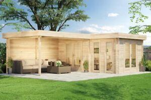 Flachdach Gartenhaus Quinta Holz Flachdach 700 X 500 Cm Geratehaus