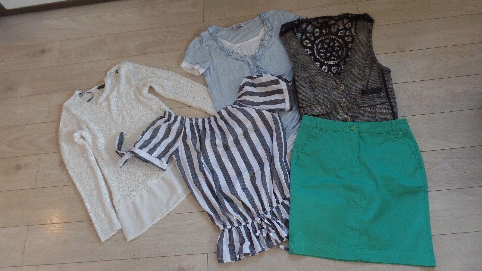 Damen Bekleidungspaket Rock, Pullover, Shirts, Weste Gr. 34/36 NEU