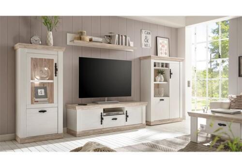 TV-Board weiß Pinie Lowboard Unterschrank Fernsehunterschrank Florenz 32