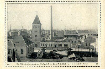 Transport Alert Die Müllverbrennungsanlage Und Kraftwerkzentrale Des Gaswerks In Fürth Von 1912 In Pain