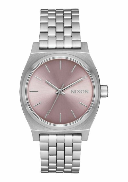Nixon A1130-2878 Medium Time Teller Women's Watch Silver 31mm Stainless Steel