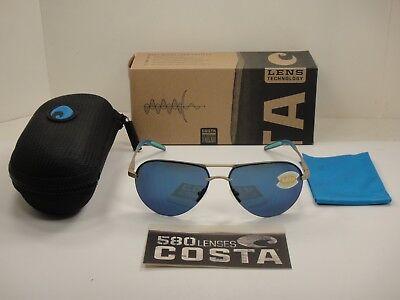 Costa Del Mar Helo Sunglasses HLO-243-OBMP ChampagneBlue 580P Polarized