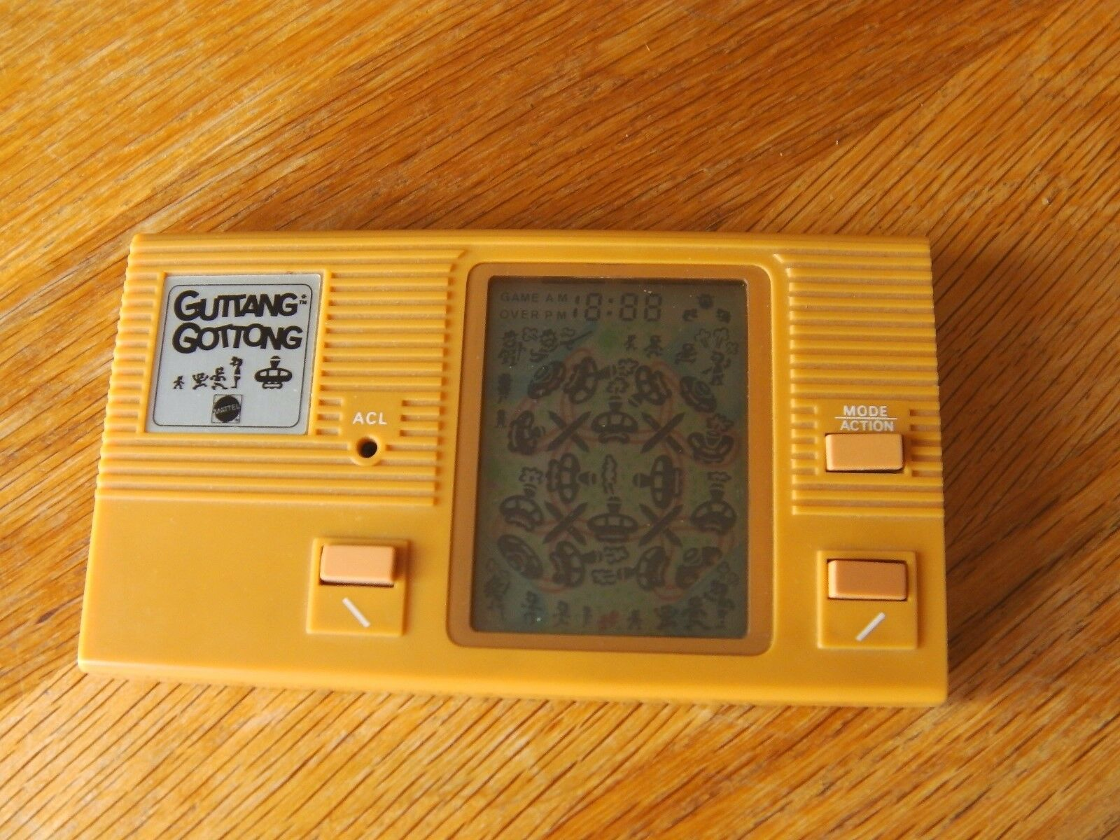 Lcd game Mattel   Guttang Gottong   game watch 1982