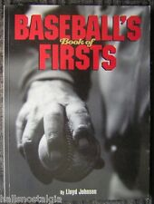 BASEBALL'S BOOK Of FIRSTS by Lloyd Johnson - 9x12 Softcover Book - Bill Klem