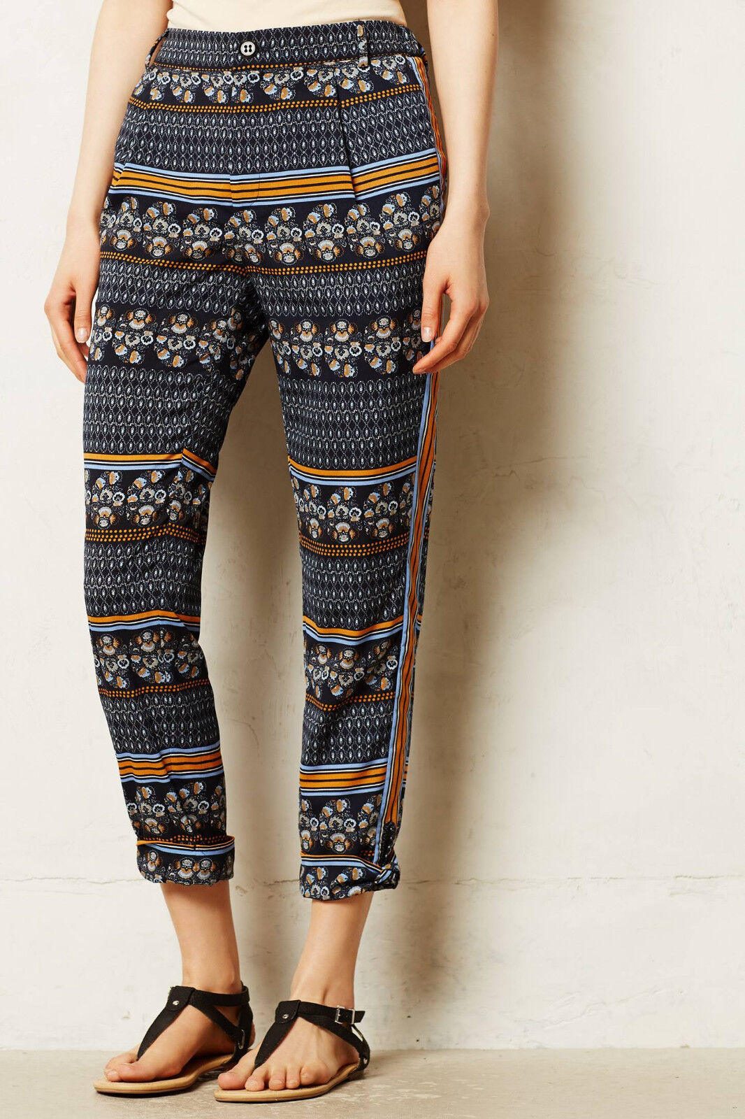 Anthropologie Pants Cropped Printed Summer Aralia Crops By Elevenses Size 10