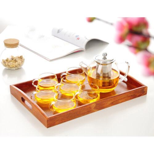 Wood Bread Serving Tray Coffee Tea Cake Fruit Sizes E 30x20x3.5cm