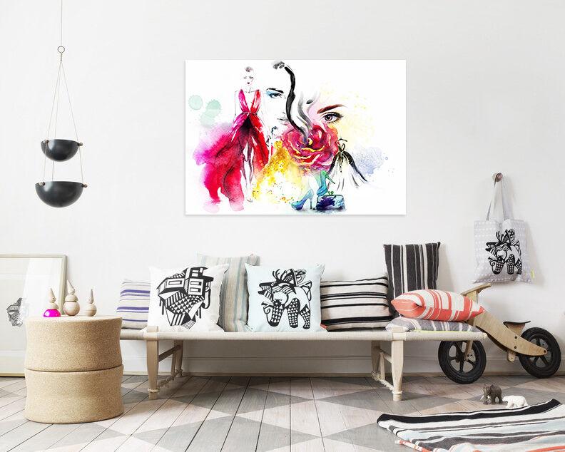 3D Smoking Mädchen 613 Fototapeten Wandbild BildTapete AJSTORE DE Lemon