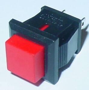 Mini-Taster-Drucktaster-viereckig-Schliesser-Rot-250V-0-5A-Marke-S108S
