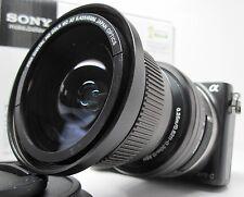 Wide Angle Macro Fisheye lens for Sony Nex a5000 / 6000 3n 5tL HD w/16-50 16mm