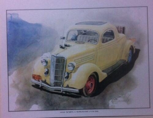 "/""1935 Ford 3 Window Coupe/"" Illustration 8x10 Reprint Garage Decor"