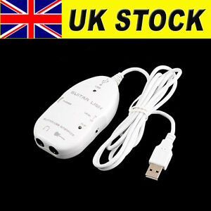 Great-Guitar-To-PC-MAC-USB-Interface-Audio-Link-Record-USB-Guitar-Link-Cable-UK