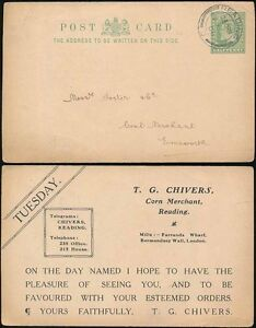 GB KE7 STATIONERY CARD USED STO CHIVERS READING