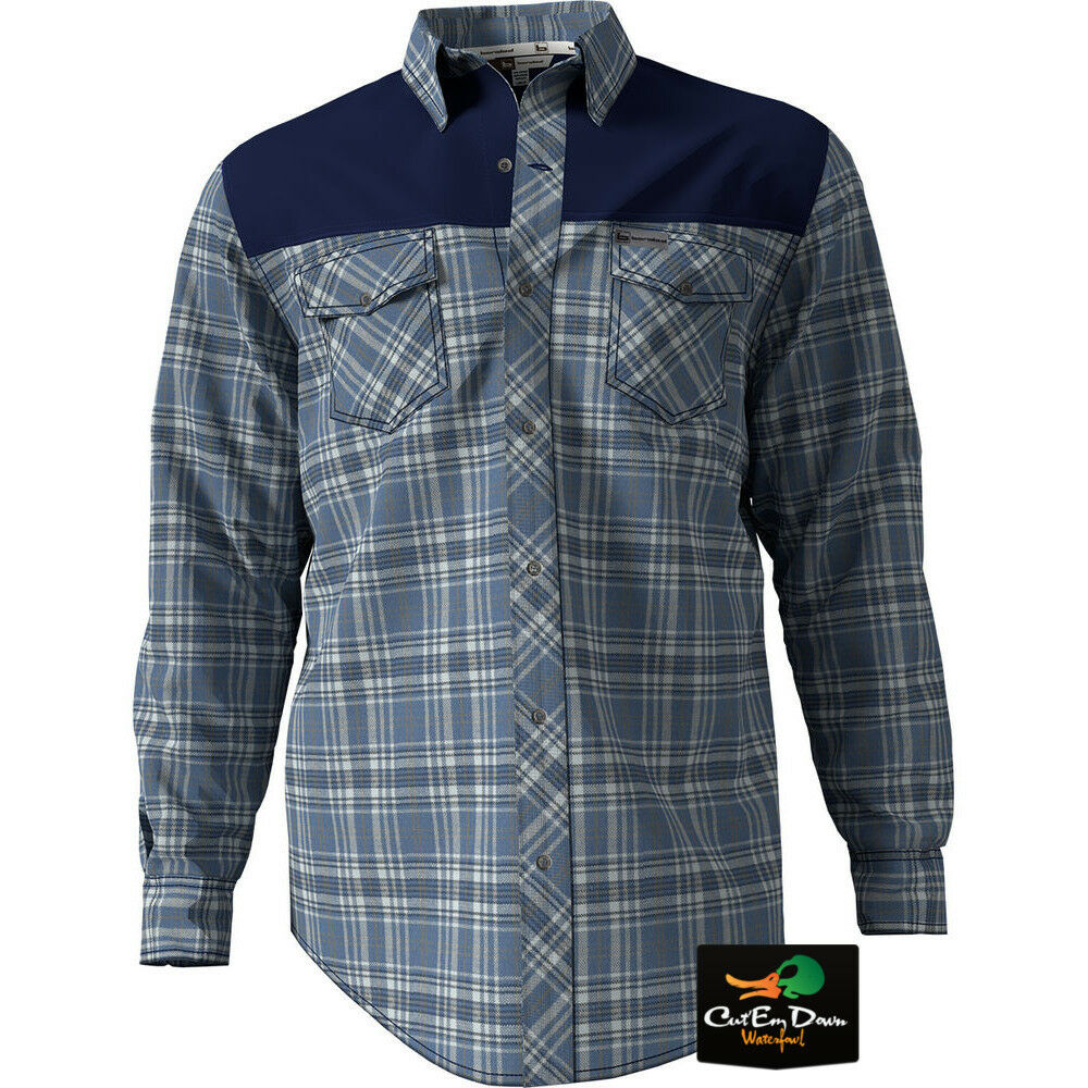NEW BANDED GEAR SOFT SHELL PLAID FLANNEL LONG SLEEVE SHIRT blueE XL