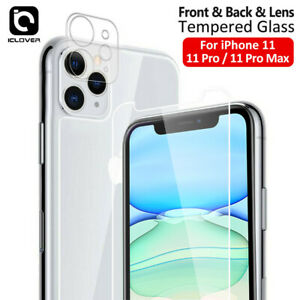 For iPhone 12 11 Pro Max Front+Back+Camera Lens Tempered Glass Screen Protector