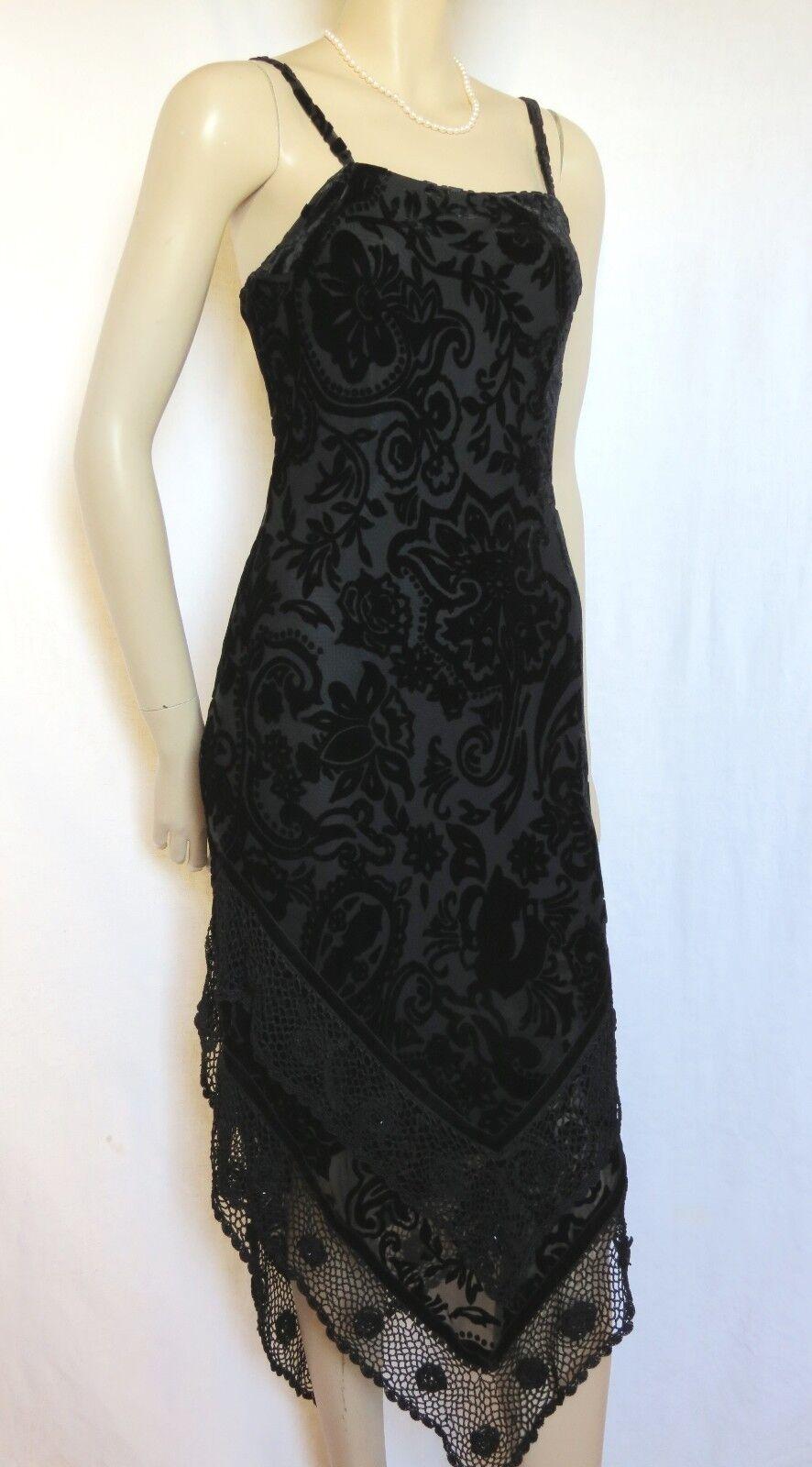 39bcb15a4971fd Laura Ashley Abendkleid 36 schwarz Seide Spitze Chor festlich Samt Hochzeit  nokxlu1062-Kleider