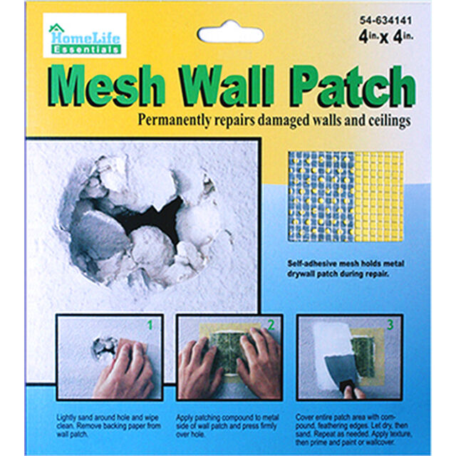DRYWALL REPAIR PATCH Fix Dry Wall Hole Repair Ceiling Damage —Metal Mesh  4x4