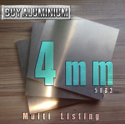 Dural 800mm X 1250mm 6mm Aluminium plate 5083