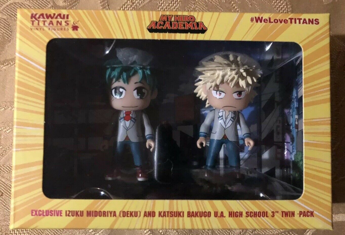 Izuku Deku Katsuki My Hero Academia NYCC 2019 Exclusive Titans Kawaii Figure Set