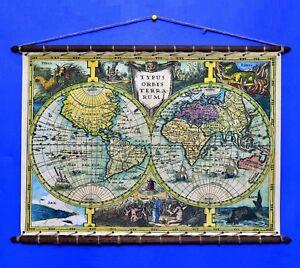 Ancient old world map mercator 1632 cotton canvas w vintage wooden la foto se est cargando mapa antiguo viejo mundo mercator 1632 tela de gumiabroncs Choice Image