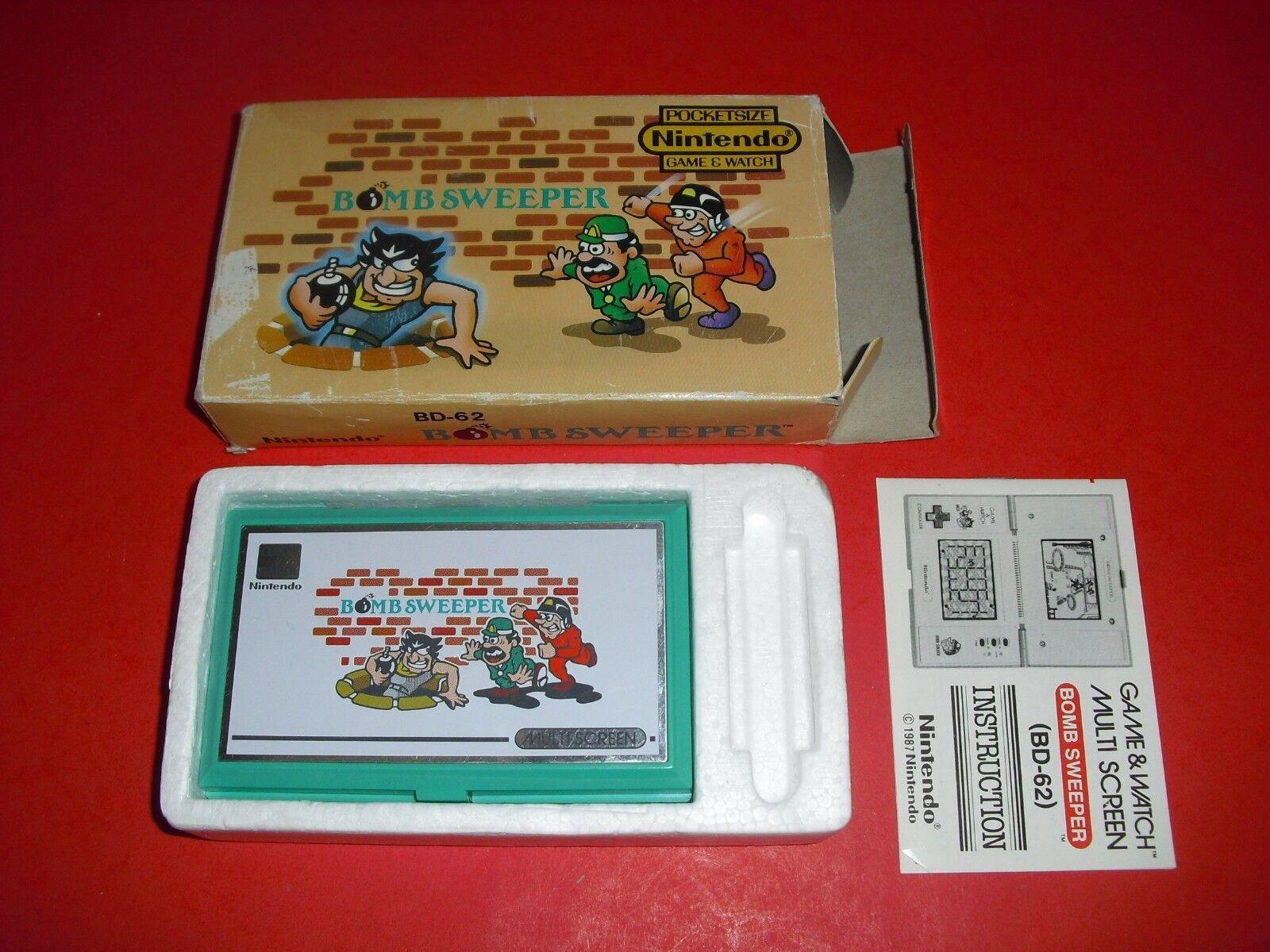 Vintage Handheld Nintendo Game Watch Bomb Sweeper Bd 62 1987 For Sale Online Ebay