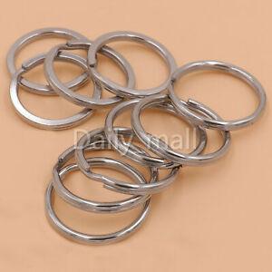 Stainless-steel-Double-Loop-Split-Jump-Key-Rings-Circle-finger-Rings-multi-size